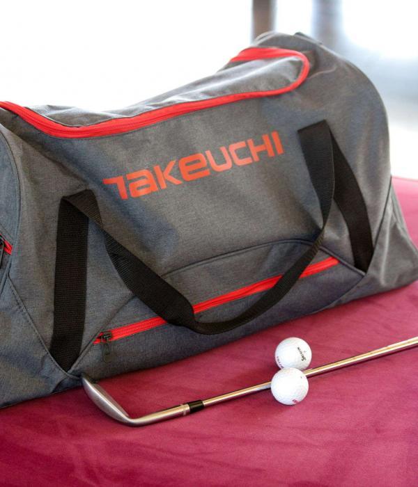 Borsone viaggio grigio rosso Takeuchi